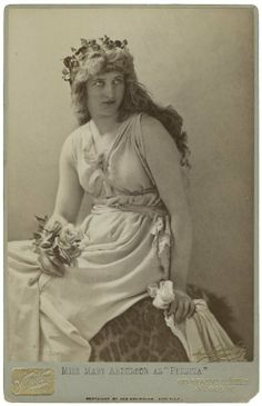 Henry van der Weyde. Miss Mary Anderson as Perdita. The Winter's Tale. Photograph, between 1875 and 1890. Folger Shakespeare Library.