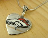 DENVER BRONCOS NFL Official Licensed Charm Silver Chain Necklace