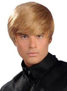 Short Straight Black Lace Front Indian Remy Mens Wigs