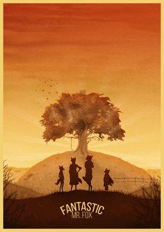 Fantastic Mr. Fox (2009) ~ Minimal Movie Poster by George Townley #amusementphile