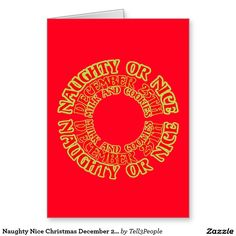 Naughty Nice Christmas December 25th Milk Cookies Greeting Card | www.zazzle.com/Tell3People