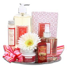 Elegant Spa Gift Tray ($34.99)- Pamper yourself with an assortment of the finest  scented spa products! The calming White Tea Ginger scent will put your mind at ease and allow you to relax and enjoy everything this gift has to offer!