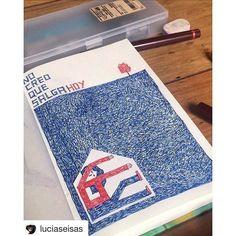 Lunes así - por @luciaseisas enbun cuaderno ilustrado TAN.TAN. Se viene algo bello con un grupo de ilustradores geniales. Esten atentos!