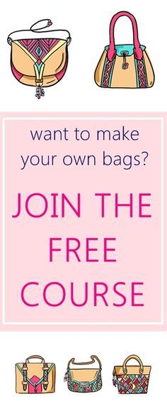Learn to sew tote bags | FREE bag making course for beginners