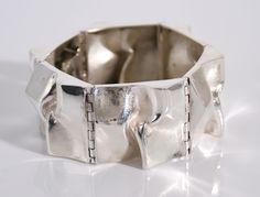 Sterling Silver Bracelet Designed by Matti J. Hyvarinen Finland c.1960  #mid-century #modernist #midcenturymodern