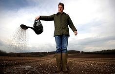 Farmer Gavin White, tends his crop in the south west of England. He has created the world's first Guinness flavoured potatoes, in a project sponsored by Burts Potato Chips