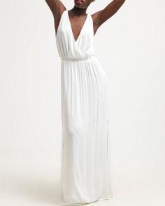 Dante6 ORPHEE Długa sukienka biała milk white