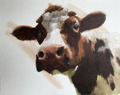 Cow Painting, Cow Art, Cow PRINT - Cow Oil Painting, Holstein Cow, Farm Animal Art, Farmhouse Art, Prints of Farm Animals, Farm Wall Art by JamesCoatesFineArt2 on Etsy Swan Painting, Cow Painting, Wine Poster, Dog Poster, Holstein Cows, Cow Art, Pictures To Paint, Dog Gifts, Farm Animals