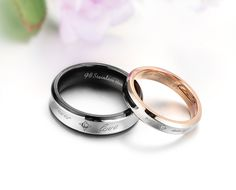 engagement rings matching sets | ... Steel Mens Ladies Couple Promise Ring Wedding Bands Matching Set