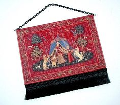 Cluny Unicorn Tapestry Medieval Dollhouse by CalicoJewels on Etsy
