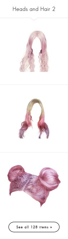 """""""Heads and Hair 2"""" by questing-witch ❤ liked on Polyvore featuring accessories, hair accessories, hair, dolls, doll parts, wigs, doll hair, beauty products, haircare and hair styling tools"""