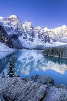 Moraine Moonlight - Pre-dawn on Moraine Lake with fresh snow in September, I've been waiting these conditions for quite a few years and it all came together this Fall. Nature Pictures, Cool Pictures, Beautiful Pictures, Banff National Park, National Parks, Landscape Photos, Landscape Photography, Photography Tips, Beautiful World