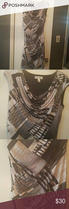 Beautiful fitted dress by Dress Barn. Black & white very fitted dress by dress barn. NWOT. Dress Barn Dresses Midi