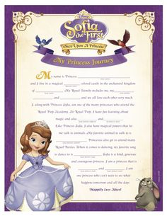 Sofia The First Viewing Party Pack Printables