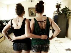 """My best friend and mine's tattoos: bow and arrow. """"When life pulls us back, we help each other to move forward."""