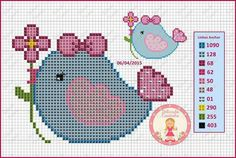 Crochet Blanket Borders Ideas For 2019 Kawaii Cross Stitch, Cross Stitch Heart, Cute Cross Stitch, Cross Stitch Borders, Cross Stitch Alphabet, Cross Stitch Animals, Cross Stitch Designs, Cross Stitching, Cross Stitch Embroidery