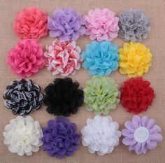 Best Quality Baby Chiffon Multilayers Mesh Fabric Flowers For Headbands Kids Diy Christmas Hair Accessories Hairpin Headwear Clothes Accessories Aw11 At Cheap Price, Online Children's Hair Accessories | Dhgate.Com