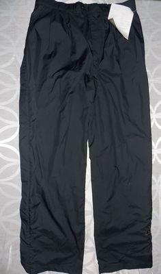 DryJoys FootJoy Performance Rain Pants Full Side zip black easy on off Men's XL  #FootJoy