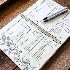 Bullet journal inspiration, bullet journal y bullet journal layout. Bullet Journal Notebook, Bullet Journal Spread, Bullet Journal Layout, Bullet Journal Inspiration, Bullet Journals, Journal Ideas, Bullet Journal Homework, Art Journals, Kalender Design