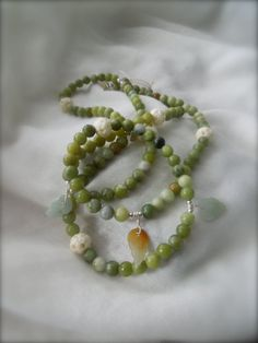 Olive Jade & Ox Bone Leaf Detail Necklace by StellaMargaritis, $60.00 Ox, On Set, Bones, Jade, Pearl Necklace, Jewelry Making, Bohemian, Canada, Pearls