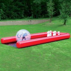 Human bowling!  We wish we could try this....