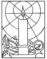 Christmas Candle coloring pages by Crayola