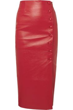 62860cd6e0 MATERIEL Faux leather skirt 344 £ Leather Midi Skirt, Edgy Outfits, Net A  Porter