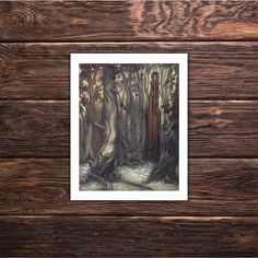 Art Print 'Sylvestris' earth goddess fantasy art print by tifengland