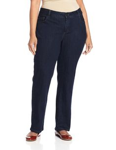 b021173548c Lee Women s Plus-Size Classic Fit Monroe Straight-Leg Jean    Special  product