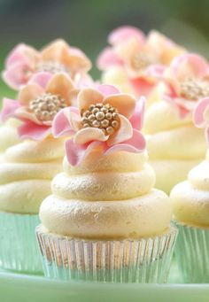 flower cupcakes pretty