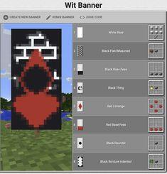 Minecraft Banner Crafting, Minecraft Banner Patterns, Cool Minecraft Banners, Minecraft Images, Cute Minecraft Houses, Minecraft House Designs, Minecraft Decorations, Minecraft Creations, Minecraft Building Guide