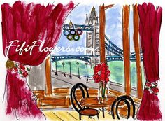 London Bridge Dining by Fifi Flowers