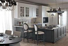Minacciolo, cucina classica, cucina elegante, cucina bianca in legno ...