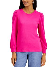 Hot Pink Tops, Grey Outfit, Puffed Sleeves, Casual Loafers, Mens Sale, Plus Size Women, Active Wear, Tunic Tops, Simple