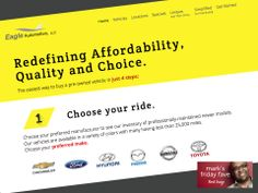 Most websites we design start with a large photo as the dominant element. But for new client Eagle Automotive we designed a site that depends on large text and color contrast to guide the user through the key steps to purchase a car. I loved how simple and clean the design is and how the sorting functions work. Visit the full site at eagleautollc.com. #FridayFave