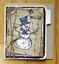 blueprint snowman from tim holtz stamps