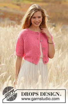 Sweet Melody Cardigan pattern by DROPS design Drops Design, Finger Knitting, Free Knitting, Knitting Machine, Kids Knitting Patterns, Scarf Patterns, Knitting Tutorials, Crochet Patterns, Yarn Brands