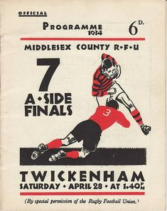 Official program 1934 Twickenham