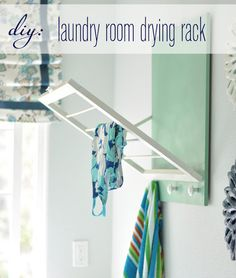 7 DIY Projects for Renters If you have limited space in your laundry room, try this DIY laundry room drying rack.