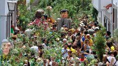 La Rama, el acto más multitudinario de su fiesta en honor a la Virgen de Las Nieves.