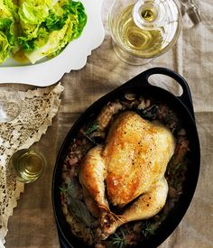 Australian Gourmet Traveller recipe for Chicken with rice and mushrooms