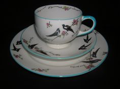 "Rare Bone China trio "" Birth Princess Elizabeth / Two for Joy 1926 "" Paragon | eBay"