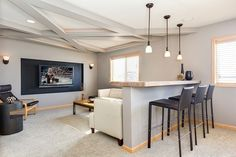 The basement is an absolutely perfect spot for an awesome hangout, and a home bar, a practical home office and even a much needed kids' playroom. tag:basement home theater design, basement home theater ideas, basement home theater plans, basement home theater setup, DIY ideas, simple, best, small, awesome, bar design.