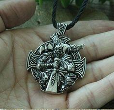 Wolf Crow Hache Charms Collier Rétro VIKING style Amulette Talisman Pendentif Bijoux