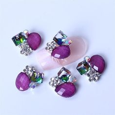 So Beauty 10pcs Alloy Nail Art Tips 3D Special Style Rhinestone Glitters Beads DIY Decoration-2 * Check out this great product.