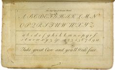 18th Century Handwriting