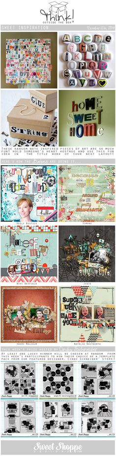 Looking for a fresh new take on a scrap challenge? Check out Sweet Shoppe Designs' Think Outside The Box challenge for October 12th and scrap along for your chance to win a kit from our Featured Designer's store and to start earning discounts every month!