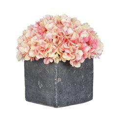 Artificial Fresh Hydrangea in Cube Pot