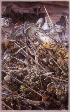 Alan Lee Siege of Gondor Illustration
