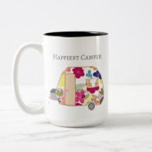 This vintage trailer coffee mug is so cute!  It's perfect for the happy camper or RV lover.